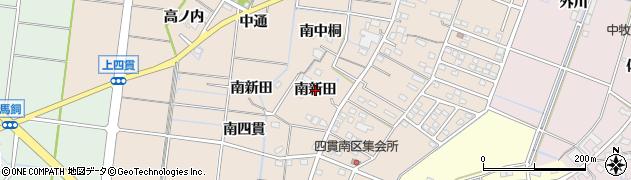 愛知県稲沢市祖父江町四貫(南新田)周辺の地図