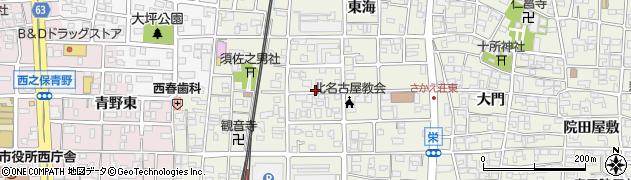 愛知県北名古屋市鹿田(丸やぶ)周辺の地図