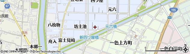 愛知県稲沢市片原一色町(坊主池)周辺の地図