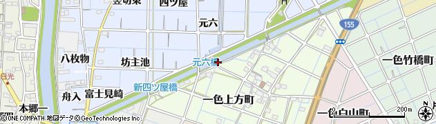 愛知県稲沢市片原一色町(西三反田)周辺の地図