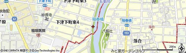 愛知県稲沢市下津町(東クタラケ)周辺の地図
