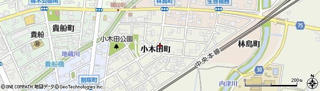愛知県春日井市小木田町周辺の地図