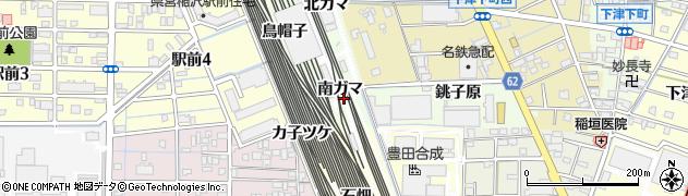 愛知県稲沢市下津町(南ガマ)周辺の地図