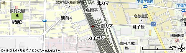 愛知県稲沢市下津町(東細廻)周辺の地図