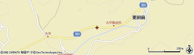 愛知県豊田市大平町(下栗)周辺の地図