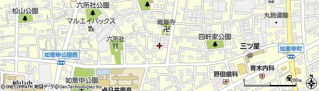 愛知県春日井市如意申町周辺の地図