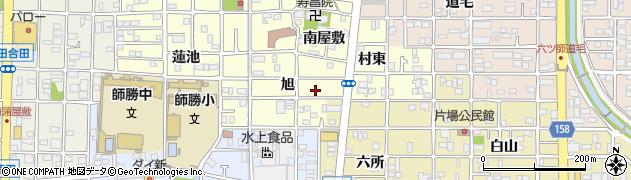 愛知県北名古屋市能田(旭)周辺の地図