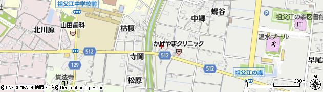 愛知県稲沢市祖父江町桜方(寺岡)周辺の地図