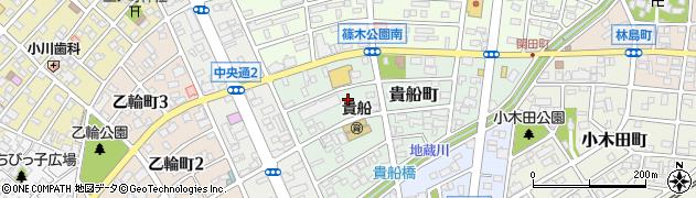 愛知県春日井市貴船町周辺の地図