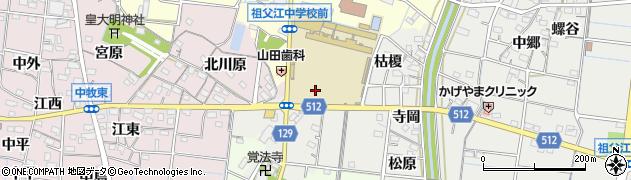 愛知県稲沢市祖父江町桜方(新江南)周辺の地図