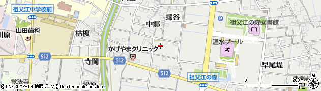 愛知県稲沢市祖父江町桜方(西郷)周辺の地図