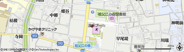 愛知県稲沢市祖父江町桜方(六町)周辺の地図