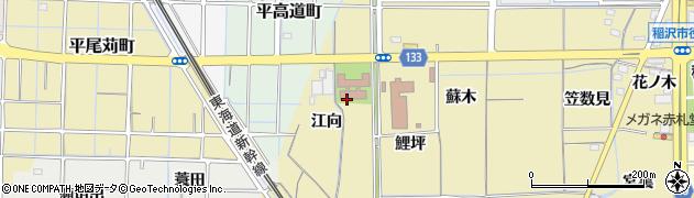 愛知県稲沢市船橋町(江向)周辺の地図