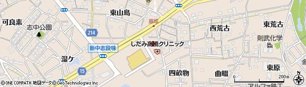 愛知県名古屋市守山区中志段味(洞畑)周辺の地図