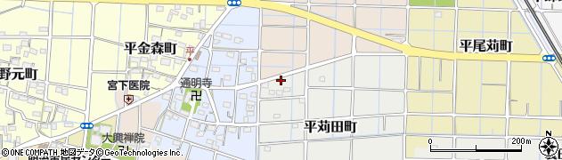 愛知県稲沢市平町周辺の地図