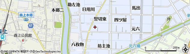 愛知県稲沢市片原一色町(日用川)周辺の地図
