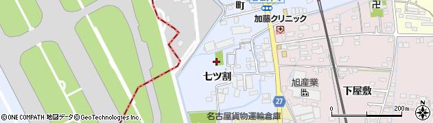 愛知県春日井市春日井町周辺の地図