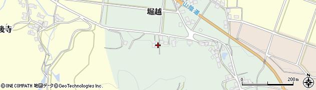 京都府福知山市堀越周辺の地図