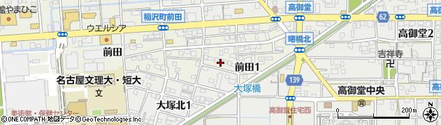 愛知県稲沢市前田周辺の地図