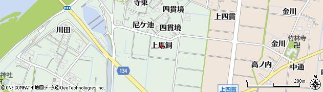 愛知県稲沢市祖父江町馬飼(上馬飼)周辺の地図