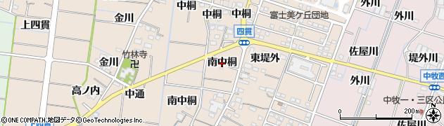 愛知県稲沢市祖父江町四貫(南中桐)周辺の地図