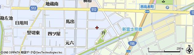 愛知県稲沢市片原一色町(如来)周辺の地図