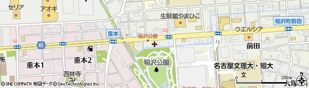 愛知県稲沢市稲沢町(下田)周辺の地図