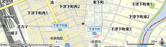 愛知県稲沢市下津町(南堀田)周辺の地図
