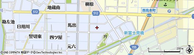 愛知県稲沢市片原一色町周辺の地図