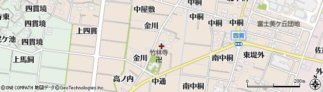 愛知県稲沢市祖父江町四貫周辺の地図