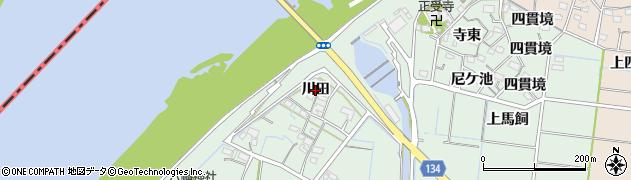 愛知県稲沢市祖父江町馬飼(川田)周辺の地図