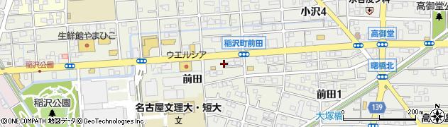愛知県稲沢市稲沢町(前田)周辺の地図