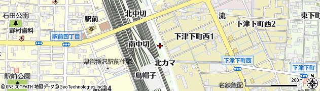 愛知県稲沢市下津町(南丹波)周辺の地図