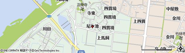 愛知県稲沢市祖父江町馬飼(尼ケ池)周辺の地図