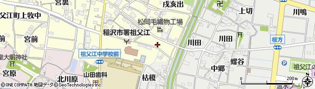 愛知県稲沢市祖父江町上牧(下川田)周辺の地図