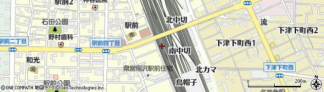 愛知県稲沢市下津町(東惣合田)周辺の地図