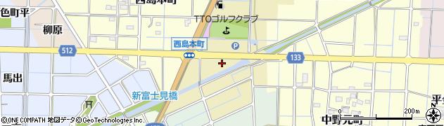 愛知県稲沢市西島東町周辺の地図