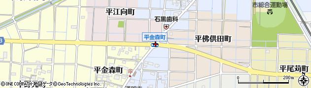 平金森町周辺の地図