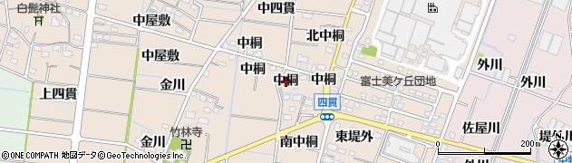愛知県稲沢市祖父江町四貫(中桐)周辺の地図