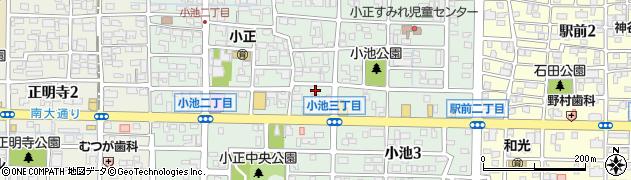 愛知県稲沢市小池周辺の地図
