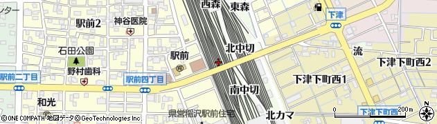 愛知県稲沢市下津町(芳子田)周辺の地図