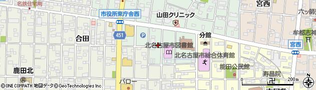 愛知県北名古屋市熊之庄(御榊)周辺の地図