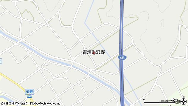 〒669-3842 兵庫県丹波市青垣町沢野の地図