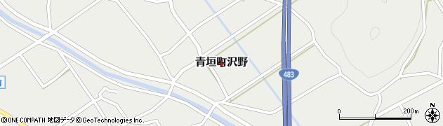 兵庫県丹波市青垣町沢野周辺の地図