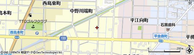 愛知県稲沢市中野川端町周辺の地図