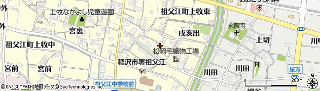 愛知県稲沢市祖父江町上牧(上川田)周辺の地図