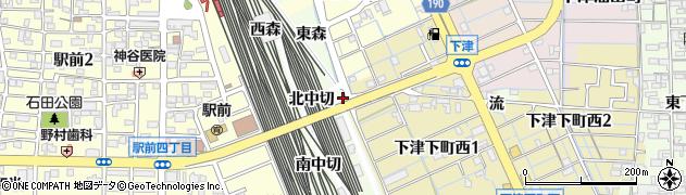 愛知県稲沢市下津町(北丹波)周辺の地図
