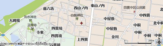 愛知県稲沢市祖父江町四貫(宮屋敷)周辺の地図