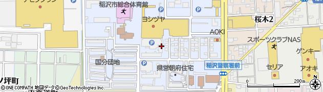愛知県稲沢市朝府町周辺の地図