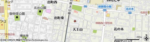 愛知県北名古屋市鹿田(天王山北)周辺の地図